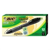 BIC Ecolutions ReAction Retractable Ballpoint Pen, Black Ink, 1mm, Medium, Dozen