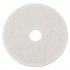 "Standard Polishing Floor Pads, 14"" Diameter, White, 5/Carton"