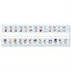 "Carson-Dellosa Publishing Desk Nameplates, Alphabet, 9 1/2"" x 3"", 36/Set"