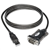 USB to Serial Adapter Cable (USB-A to DB9 M/M), 5-ft.