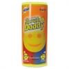 """Scratch-Free Scrubbing Sponge, 4 1/8"""" Diameter, Yellow, Polymer Foam, 6/Pack"""