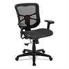 Alera Alera Elusion Series Air Mesh Mid-Back Swivel/Tilt Chair, Black