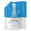 Method Dish Soap Refill, Sea Minerals, 36 oz Pouch, 6/Carton