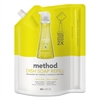 Method Dish Soap Refill, Lemon Mint, 36 oz Pouch, 6/Carton