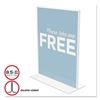 deflecto Classic Image Stand-Up Double-Sided Sign Holder, Plastic, 8 1/2x11 Insert, Clear