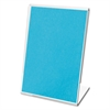 Clips Grips Tags Mini Tabletop Sign Holder, 2 x 1 1/2 x 3, Clear, 10/Pack