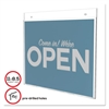 deflecto Classic Image Single-Sided Wall Sign Holder, Plastic, 11 x 8 1/2 Insert, Clear