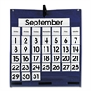 Carson-Dellosa Publishing Monthly Calendar 43-Pocket Chart with Day/Week Cards, Blue, 25 x 28 1/2