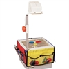 Carson-Dellosa Publishing Overhead Projector Storage, 3 12 1/4 x 7 1/4 Panels w/6 Pockets & Belt