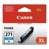 Canon 0337C001 (CLI-271XL) High-Yield Ink, Cyan