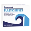 Boardwalk Mediumweight Polystyrene Cutlery, Knife, White, 10 Boxes of 100/Ctn