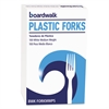 Boardwalk Mediumweight Polystyrene Cutlery, Fork, White, 100/Box