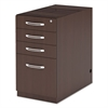 Mayline Aberdeen Series Pencil/Box/Box/File Laminate Desk Pedestal, Mocha