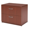 Mayline Aberdeen Series Freestanding Lateral File, 36w x 24d x 29½h, Cherry