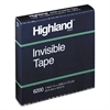 "Highland Invisible Permanent Mending Tape, 1"" x 2592"", 3"" Core"