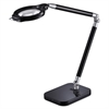 "PureOptics Summit Zoom Ultra Reach Magnifier LED Desk Light, 2 Prong, 29"", Black"