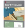 Laser/Inkjet Matte Clear Full Sheet Labels, 8 1/2 x 11, 50/Box