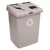 Glutton Recycling Station, Two-Stream, 46 gal, Beige