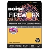 Boise FIREWORX Colored Paper, 20lb, 8-1/2 x 14, Golden Glimmer, 500 Sheets/Ream