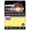 Boise FIREWORX Colored Paper, 20lb, 8-1/2 x 11, Crackling Canary, 500 Sheets/Ream