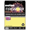 Boise FIREWORX Colored Paper, 24lb, 8-1/2 x 11, Crackling Canary, 500 Sheets/Ream