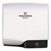 WORLD DRYER SLIMdri Hand Dryer, Aluminum, White