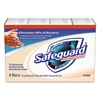 Safeguard Antibacterial Bath Soap, Beige, 4oz Bar, 48/Carton