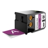 "DYMO XTL All-Purpose Vinyl Labels, 2"" x 24.6 ft., Purple/White Print"