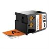 "XTL All-Purpose Vinyl Labels, 2"" x 24.6 ft., Orange/Black Print"