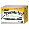 Magic Marker Low Odor & Bold Writing Dry Erase Marker, Chisel, Black, 24/PK