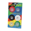 "Chartpak Deco Bright Decorative Tape, 1/8"" x 324"", Red/Black/Blue/Green/Yellow, 6/Pack"