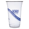 BlueStripe 25% Recycled Content Cold Cups, 20 oz, Clear/Blue, 1000/Carton