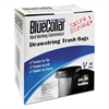 Drawstring Trash Bags, 20-30gal, 1mil, 30 x 34, Black, 40/Box, 6 Boxes/Carton