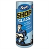 "Scott Shop Towels, Glass, 1-Ply, 8.6"" x 11"", Blue, 90 Sheets/Roll, 12 Rolls/Carton"