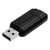 Verbatim PinStripe USB Flash Drive, 64GB, Black