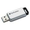 Verbatim Store 'n' Go Secure Pro USB 3.0 Flash Drive w/AES 256 Encryption, 32GB, Silver