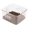 Rubbermaid Commercial SpaceSaver Square Containers, 4qt, 8 4/5w x 8 3/4d x 4 3/4h, Clear