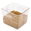 SpaceSaver Square Containers, 6qt, 8 4/5w x 8 3/4d x 6 9/10h, Clear