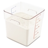 Rubbermaid Commercial SpaceSaver Square Containers, 8qt, 8 4/5w x 8 3/4d x 8 3/4h, Clear