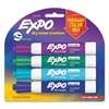 Dry Erase Markers, Chisel Tip, Vibrant Color Mix, 4/Pack