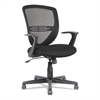 Swivel/Tilt Mesh Mid-Back Task Chair, Fixed Cantilevered Arms, Black