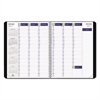Blueline DuraGlobe Weekly Planner, 15-min Appointments, 11 x 8 1/2, Black, 2017
