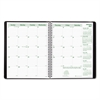Brownline EcoLogix Recycled Monthly Planner, 11 x 8 1/2, Black Soft Cover, 2017