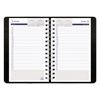 DuraGlobe Daily Planner Ruled For 30-Minute Appointments, 8 x 5, Black, 2017