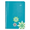 Blueline Soft Cover Design Weekly/Monthly Planner 8 x 5, Aqua, 2017