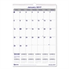 Blueline Net Zero Carbon Monthly Wall Calendar, 17 x 12, 2017