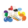 Creativity Street No-Spill Cups & Coordinating Brushes, Assorted Colors, 10/Set