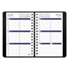 DuraGlobe Weekly Planner Ruled For Hourly Appointments, 8 x 5, Black, 2017