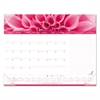 Monthly Pink Ribbon Desk Pad Calendar, 22 x 17, Clear Vinyl Corners, Pink, 2017