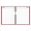 Brownline CoilPRO Daily Planner, Ruled, 1 Page/Day, 7 7/8 x 10, Red, 2017